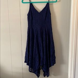 Lace Blue Express Dresss